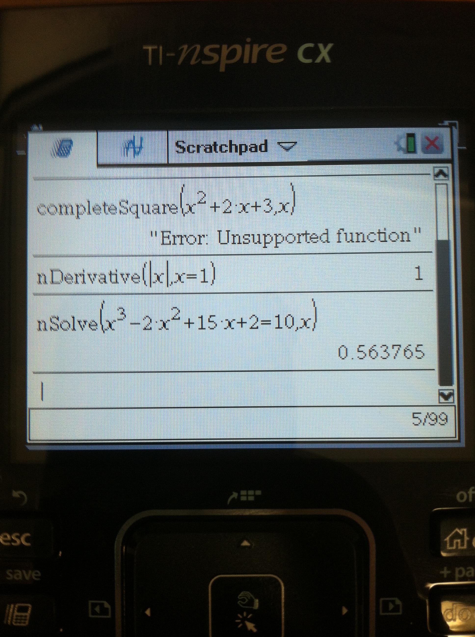 Ti Calculator Functions For Algebra