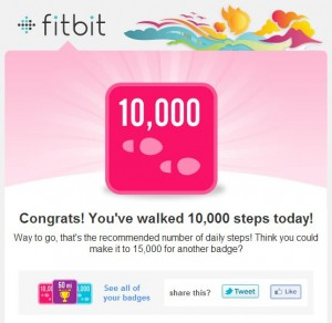 Congrats on 10k Steps in a Day