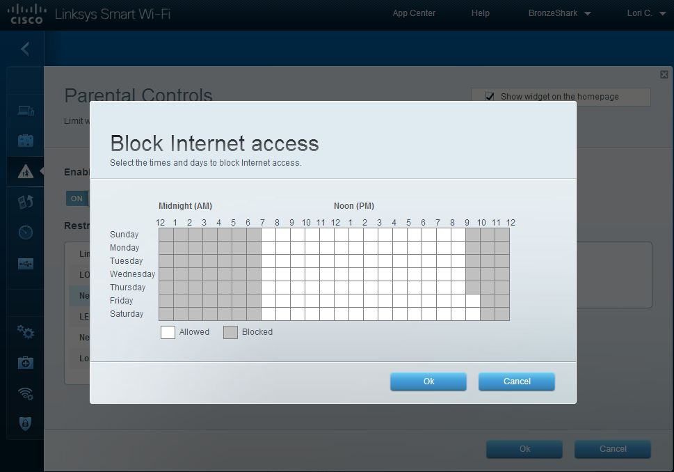 Linksys SMART Wi-Fi Block Internet Access