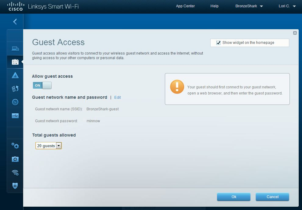 Linksys SMART Wi-Fi Guest Access