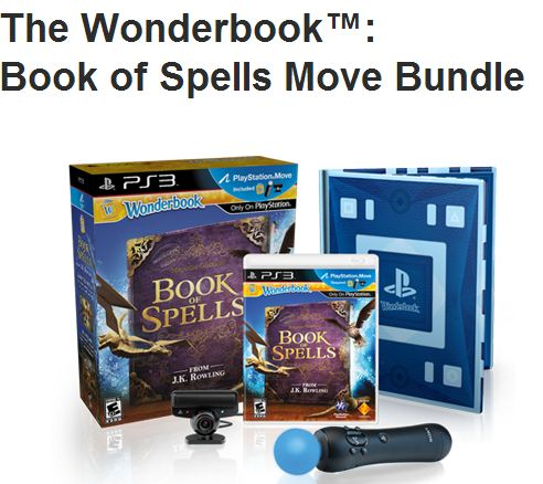 Sony PS3 Move Wonderbook Book of Spells Bundle