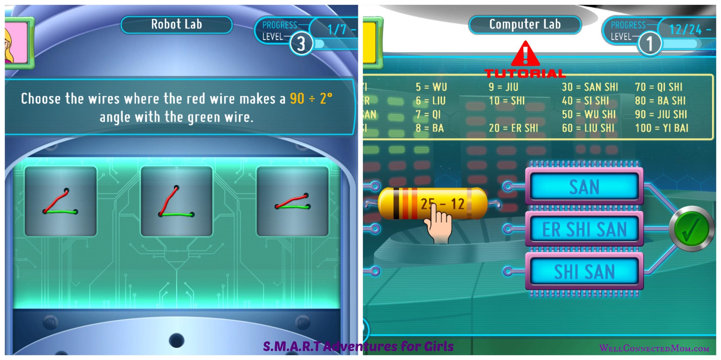 SMART Adventures STEM App for Girls (6) R Jr. Agent Labs