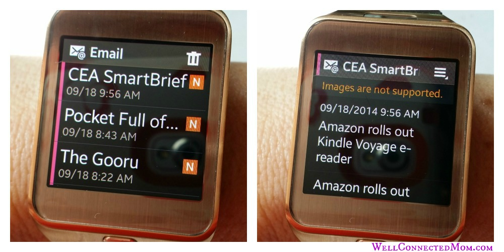 Samsung Galaxy Gear 2 Smartwatch emails