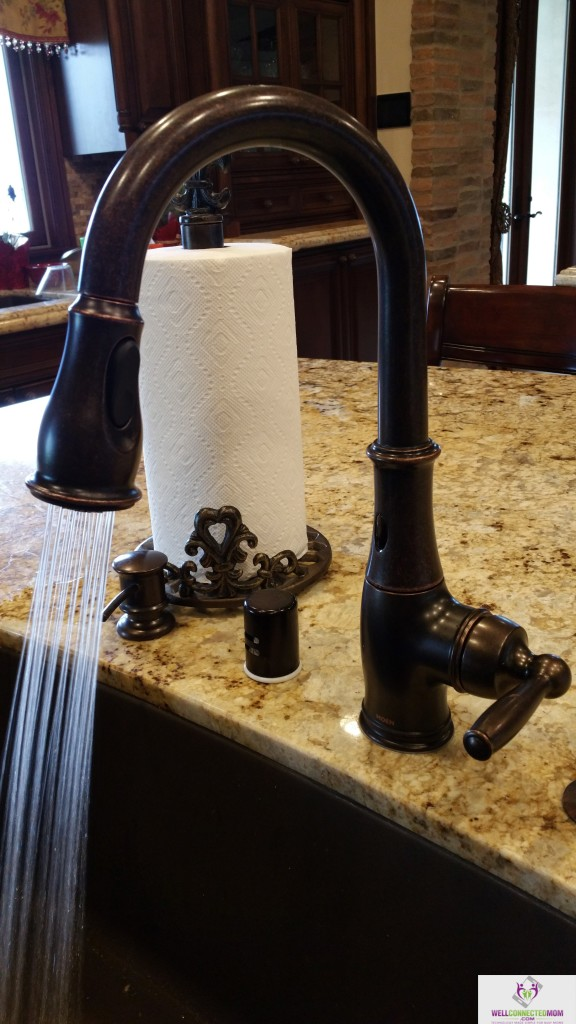 Look Mom, No Hands! Moen\'s MotionSense Faucet! - The Well Connected Mom