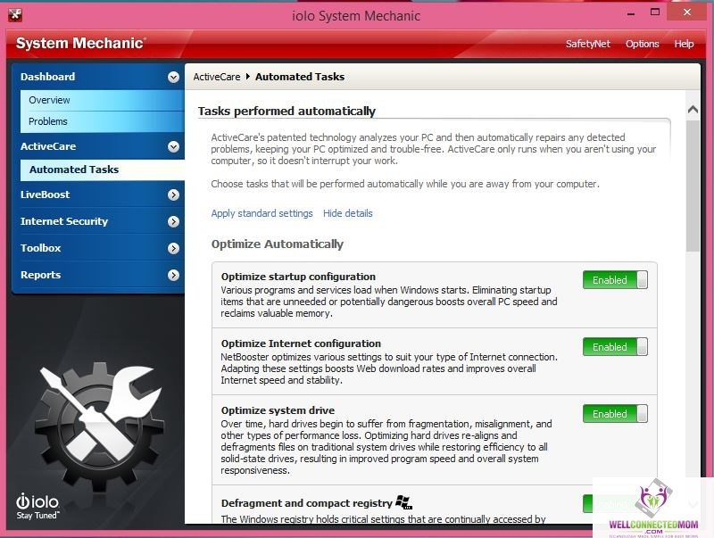 System Mechanic ActiveCare Spring clean your PC