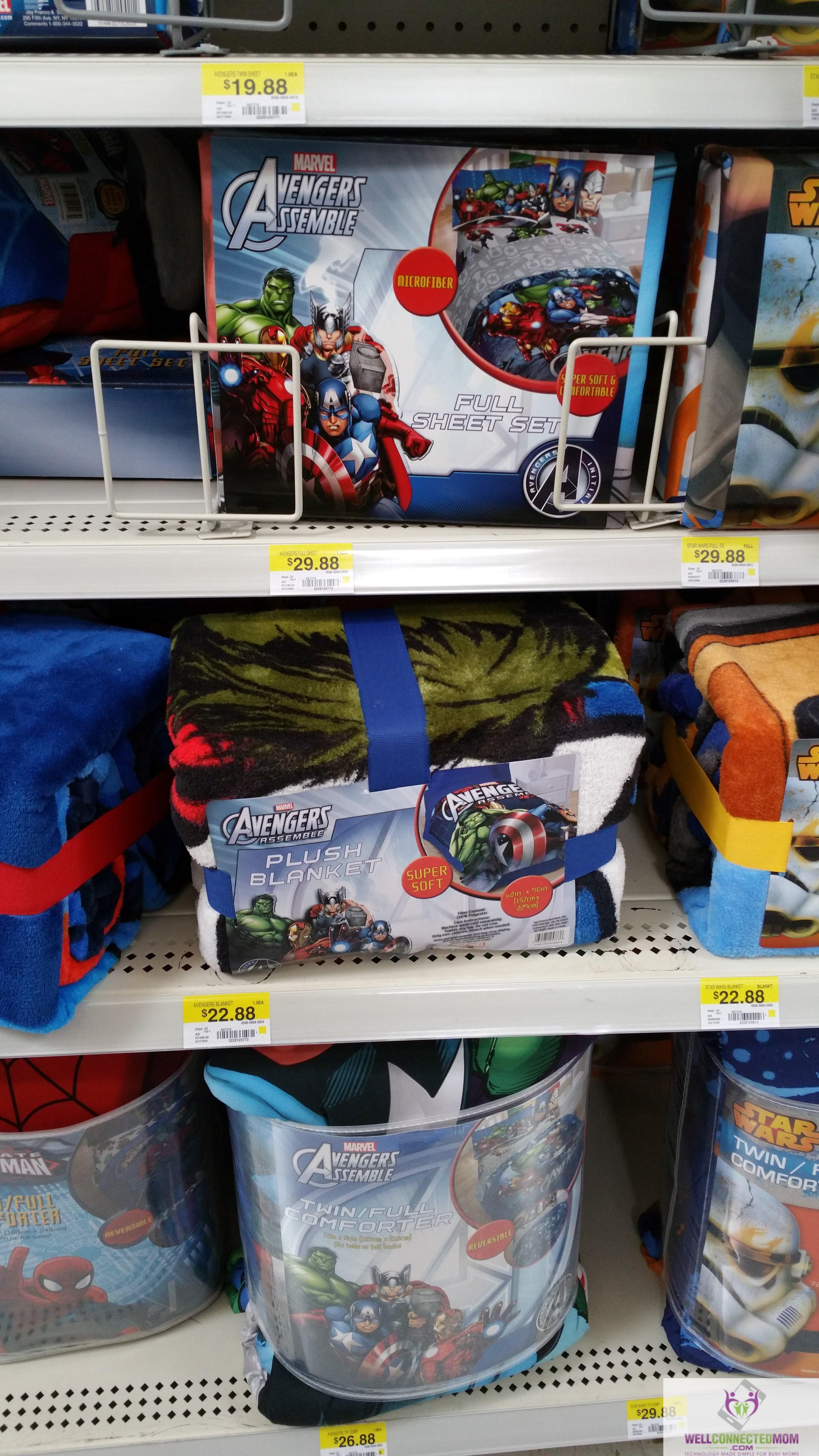 comforter kitchen amazon dp full com avengers reversible home blue twin marvel circle