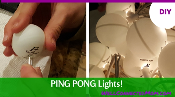 Ping pong lights for a tween room makeover the well - Ping pong christmas lights ...