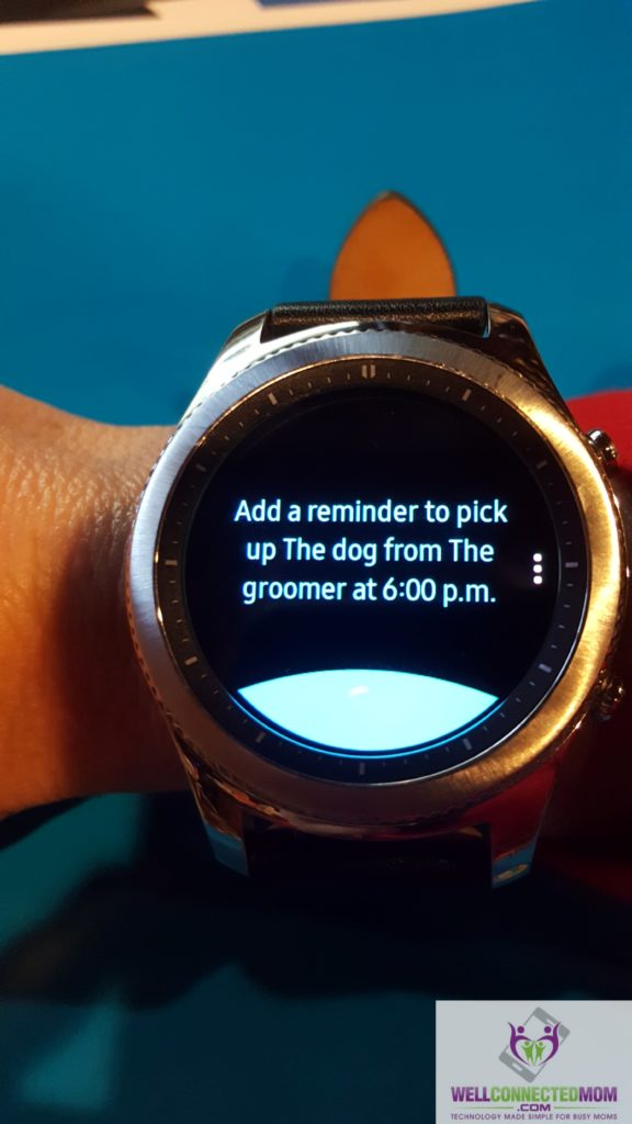 Gear S3 Voice Reminders