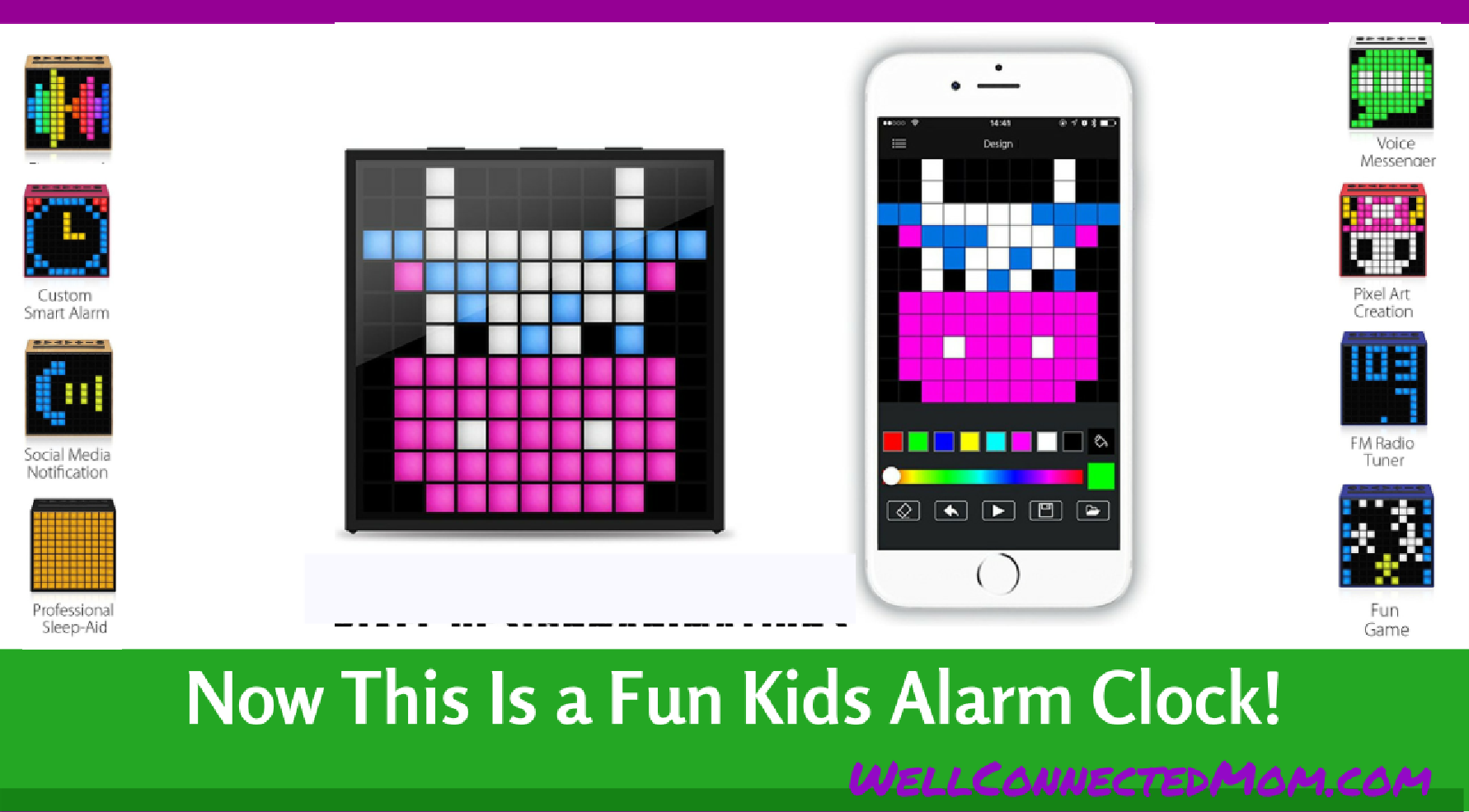This Kids Alarm Clock Makes Your Child A Pixel Artist - The Well ...